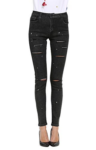 c249e093a9 Butt Lift Skinny Jeans, ZLZ Women's Casual Destroyed Ripped Distressed Stretch  Jeans Legging.