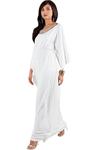 White Cocktail Maxi Dress